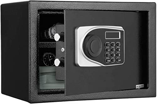 Safe Box, Security Safe Box 0.57-Cubic ft Electronic with 2 Emergency Keys LCD Digital Home Safe Cabinet Removable Shelf Lock Safes for Money Cash Jewelry Storage