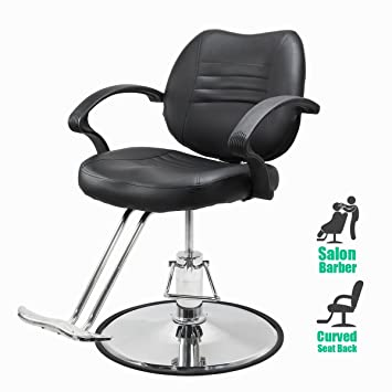 hydraulic styling chair. XtremepowerUS Barber Chair, Hair Salon Equipment Hydraulic Styling Chair