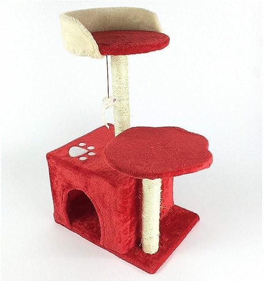 Ludage Marco de Escalada de Gato Gancho agarrador de Cat Cat Juguete del Animal doméstico Post agarrar Consejo Muebles Escalera Gato Nido Cama casa 40 * 30 * 68 cm: Amazon.es: Hogar