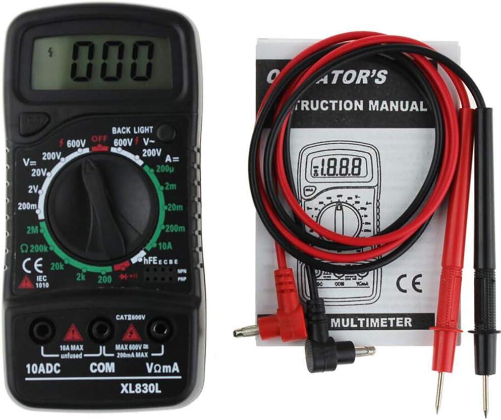 Doolland XL830L Digital LCD Multimeter Voltmeter Ammeter AC//DC//OHM Volt Current Tester