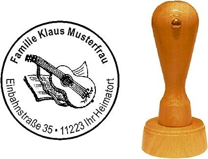 Sello sellos de madera diseño sello « Guitarra de concierto » con ...