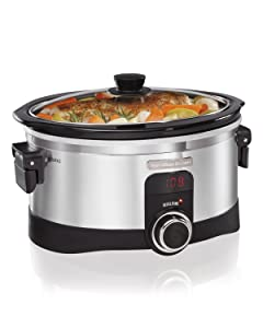 Hamilton Beach 33564 IntelliTime Slow Cooker, 6-Quart