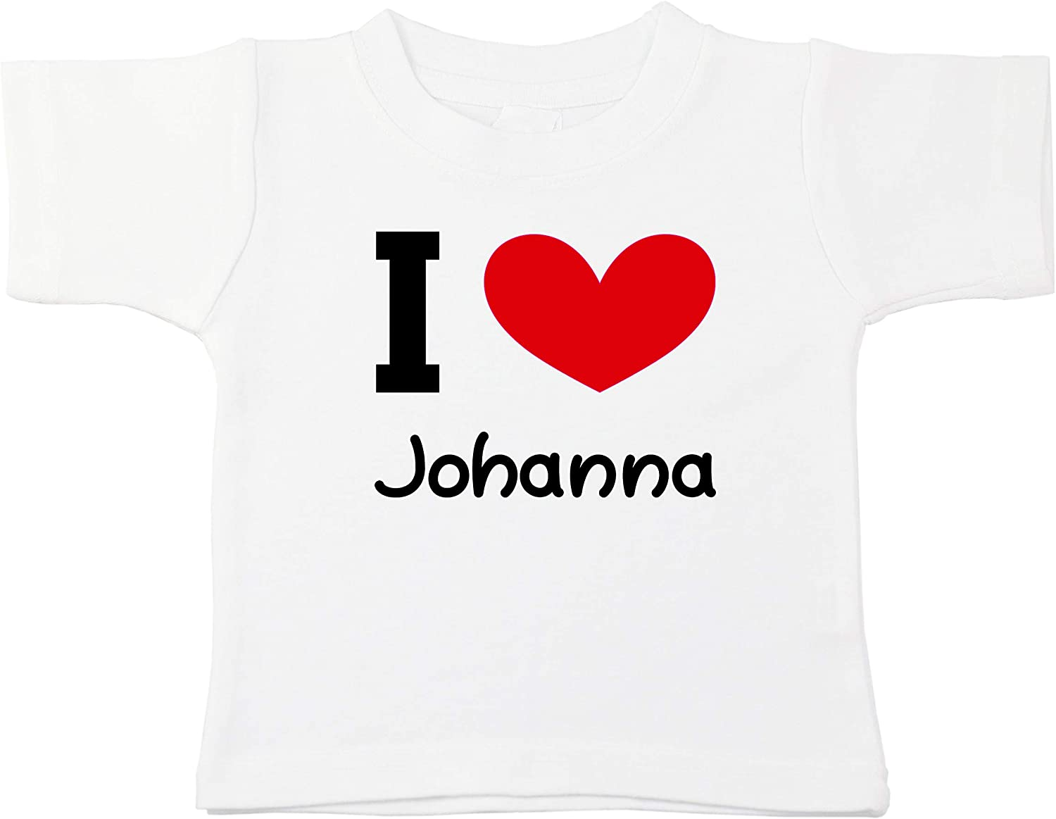 Kinacle I Love Johanna Personalized Baby//Toddler T-Shirt