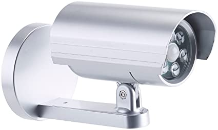 Lunartec – Cámaras de Seguridad Falsa con sensor PIR, 6 ledes, 25 lúmenes,
