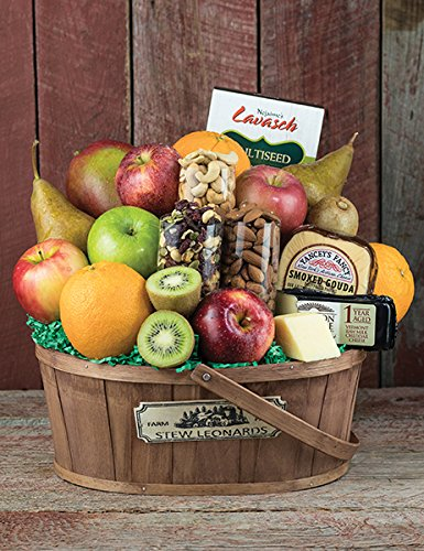 Fruit, Cheese & Nuts Farm Fresh Fruit Gift Basket from Stew Leonard's Gifts (Fruit Gift Baskets Sympathy)