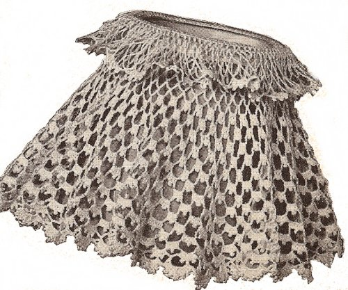 Vintage Crochet PATTERN to make - Antique Lampshade Shade Cover Any Size. NOT a finished item. This is a pattern and/or instructions to make the item only. ()