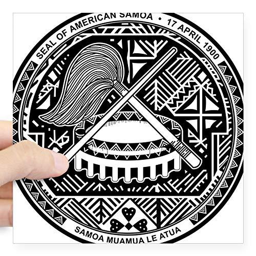 CafePress American Samoa Coat of Arms Square Sticker 3 X 3 Square Bumper Sticker Car Decal, 3