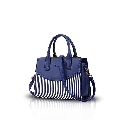 ddaec62680d NICOLE DORIS New Women Ladies Fashion Handbag Messenger Shoulder Purse Tote  Casual Work Bag Hot Sale Navy blue  Amazon.ca  Luggage   Bags