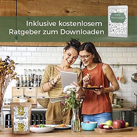 Harina de mostaza polvo de mostaza finas 250 g. Semillas de mostaza molidas, parcialmente aceitadas I aromática especias de cocina para la producción de ...