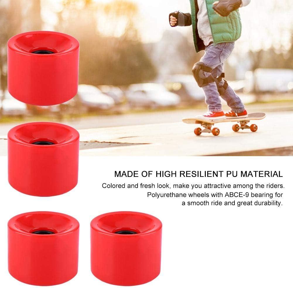 51mm Roues De Longboard Skateboard Roues De Skateboard en Qualit/é Sup/érieure PU Alomejor 4pcs//Set 70