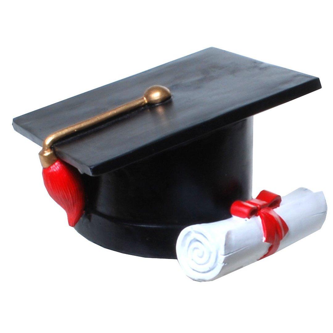 Salvadanaio a forma di studenti Cappello dokto Spra maiale Cappuccio College Udo Schmidt