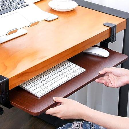 Sushop Tastatur Und Maus Tablett Ergonomischer Clamp Auf Unter Tischhalterung Diamagazin Desktop Extender Workstation Plattform Erhöht Komfort Und Platz Auf Dem Schreibtisch 25x60cm Küche Haushalt