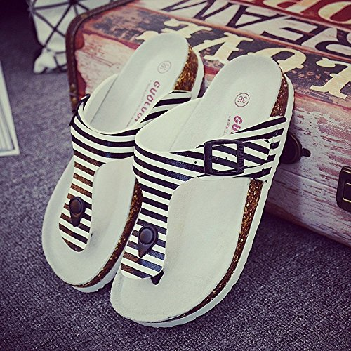 Dimensioni 1001 LISABOBO confortevoli 3 pantofole da UK4 CN39 di UK6 moda Paio eleganti EU36 femmina CN36 e sughero colori con pantofole scarpe estate spiaggia femmina Colore EU39 H8rHROcqWT