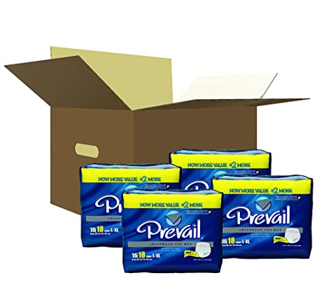 Amazon.com: Prevail Maximum Absorbency Incontinence Underwear for Men, Large/Extra Large, 18-Count: Health & Personal Care