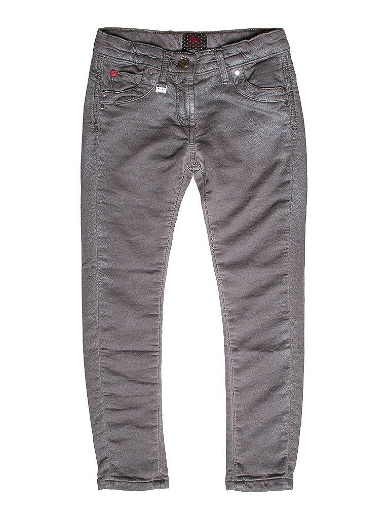 854 - gris 9-10 ans (hauteur  140 cm) voiturerera Jeans - Jogger Jeans 788 pour Fille, Style Droit, Couleur Unie, Doubleure Polaire, Taille Skinny, Taille Normale