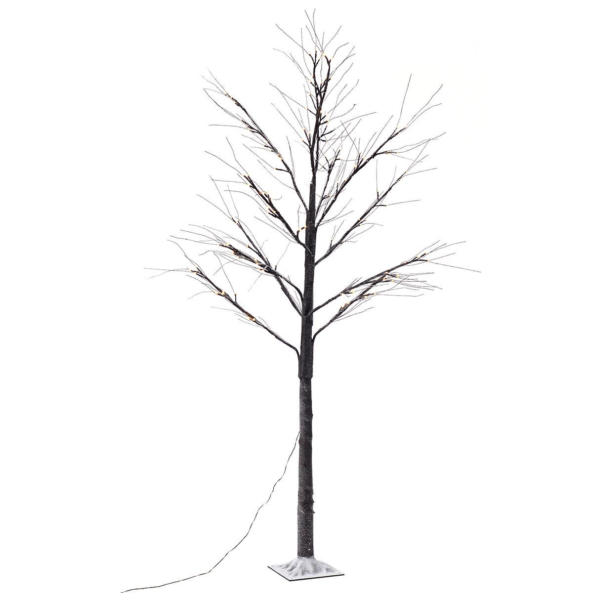 Furinho Bush - 8FT 144LED Christmas Xmas Brown Birch Snow Tree LED Light Warm Decorative Festival Party YRS 1158 by Furinho Bush