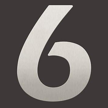 Moderne Hausnummern Edelstahl thorwa moderne design edelstahl hausnummer 6 eras demi stil