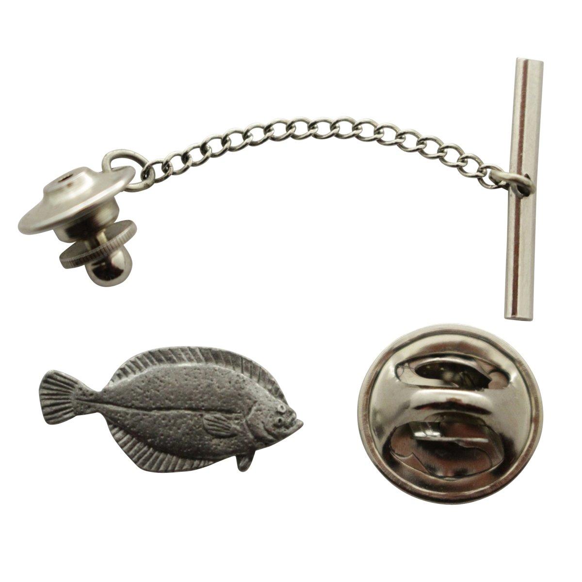 Flounder Tie Tack ~ Antiqued Pewter ~ Tie Tack or Pin ~ Sarah's Treats & Treasures