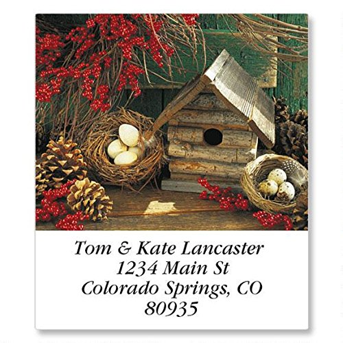 (Seasonal Birdhouses Self-Adhesive, Flat-Sheet Select Address Labels (12 Designs))