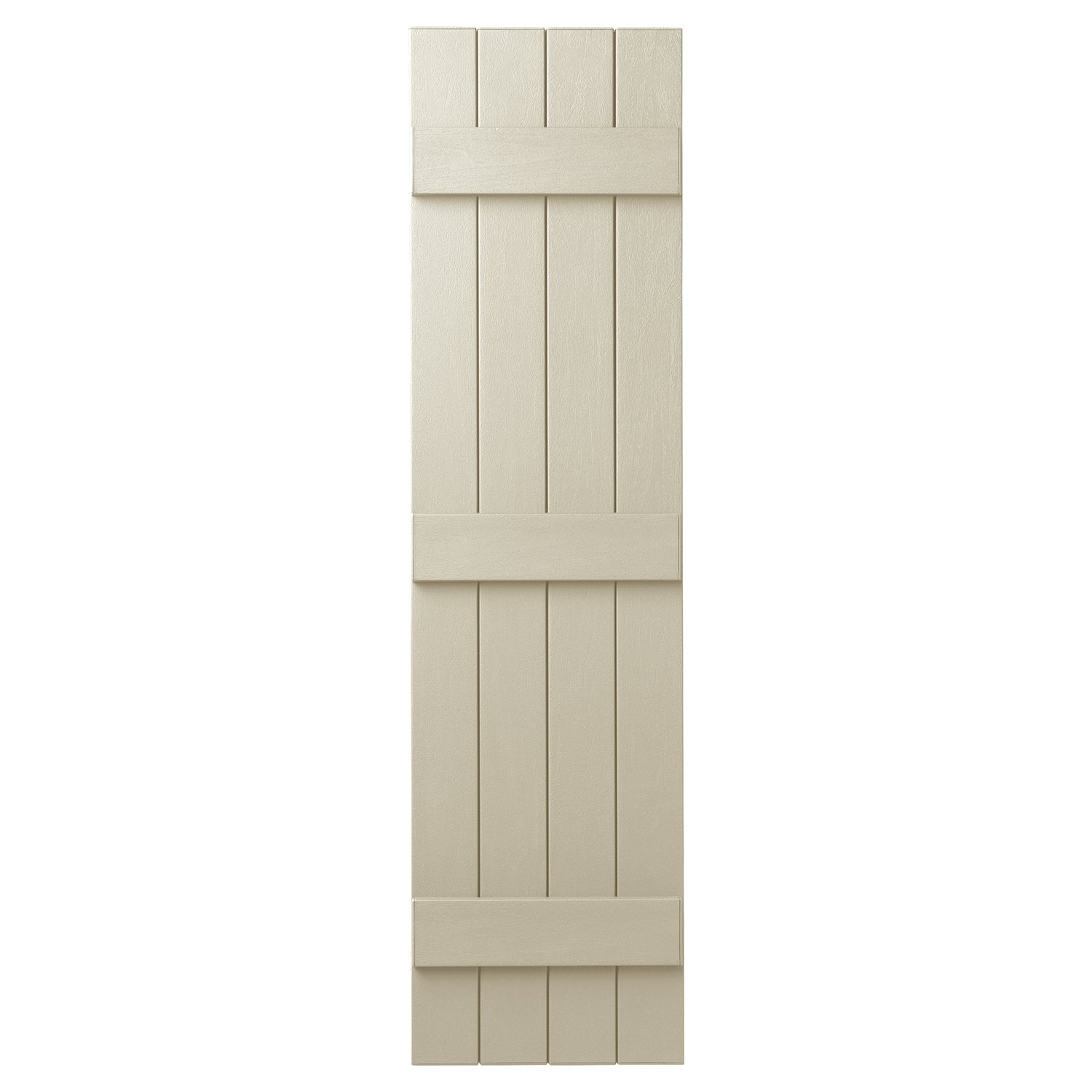 Ply Gem Shutters and Accents VIN4C1563 CRM 4 Closed Board and Batten Shutter, Sand Dollar