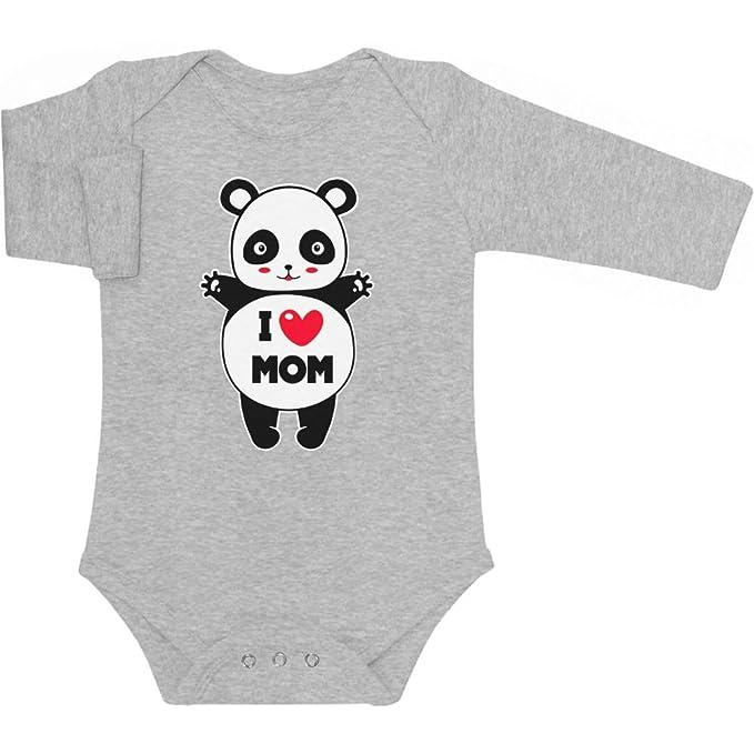 Shirtgeil Panda I Love You Mom Abbraccio affettuoso Body Neonato Manica Corta