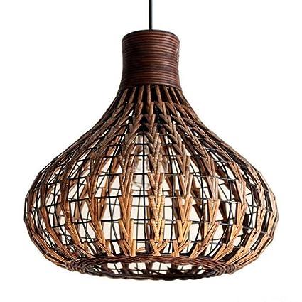 DS Candelabro Lámpara de bambú Lámparas retro Lámparas de ...