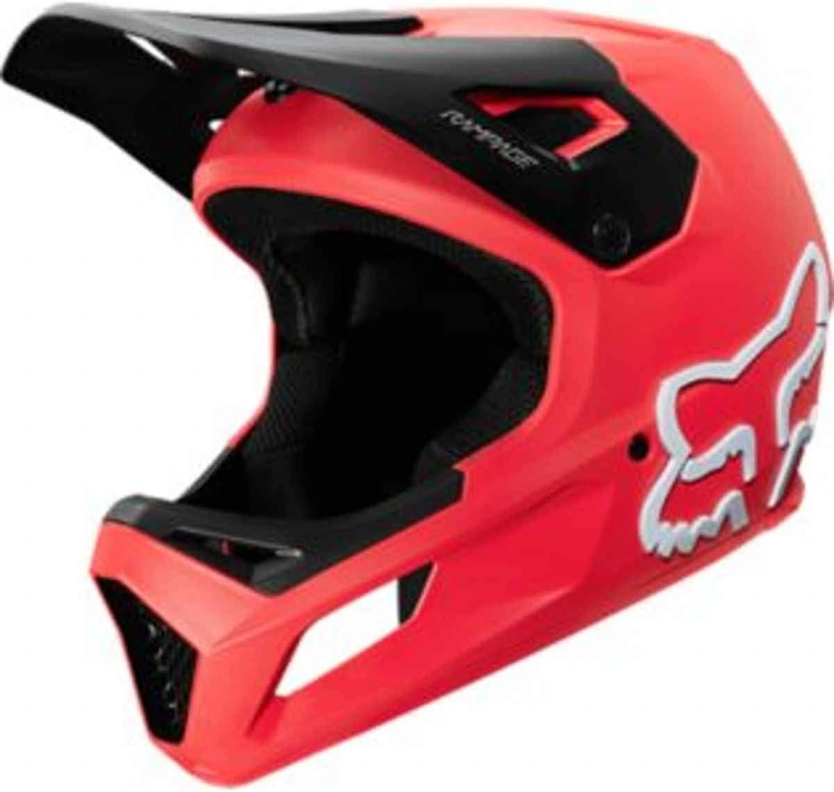 Fox Downhill Rampage - Casco de ciclismo de montaña, color rojo