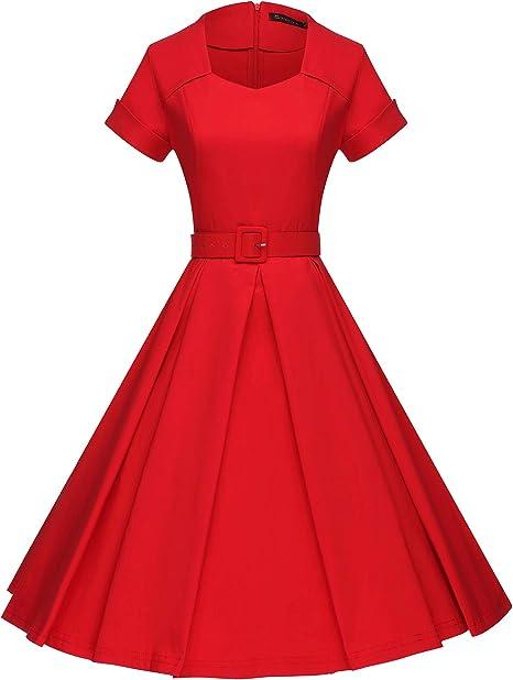 Amazon.com: GownTown Vestido de fiesta estilo años 50, retro ...