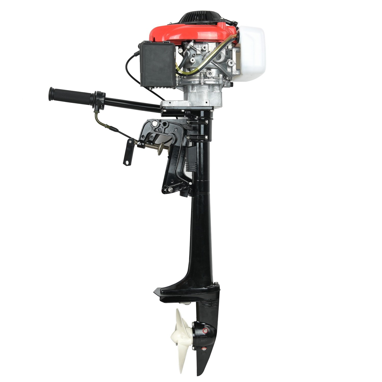HAFIY 4HP 4 Stroke Heavy Duty Outboard Motor 38CC Boat Engine with Air Cooling System Inflatable Fishing Boat Kayak Canoe Leadallway TM by HAFIY