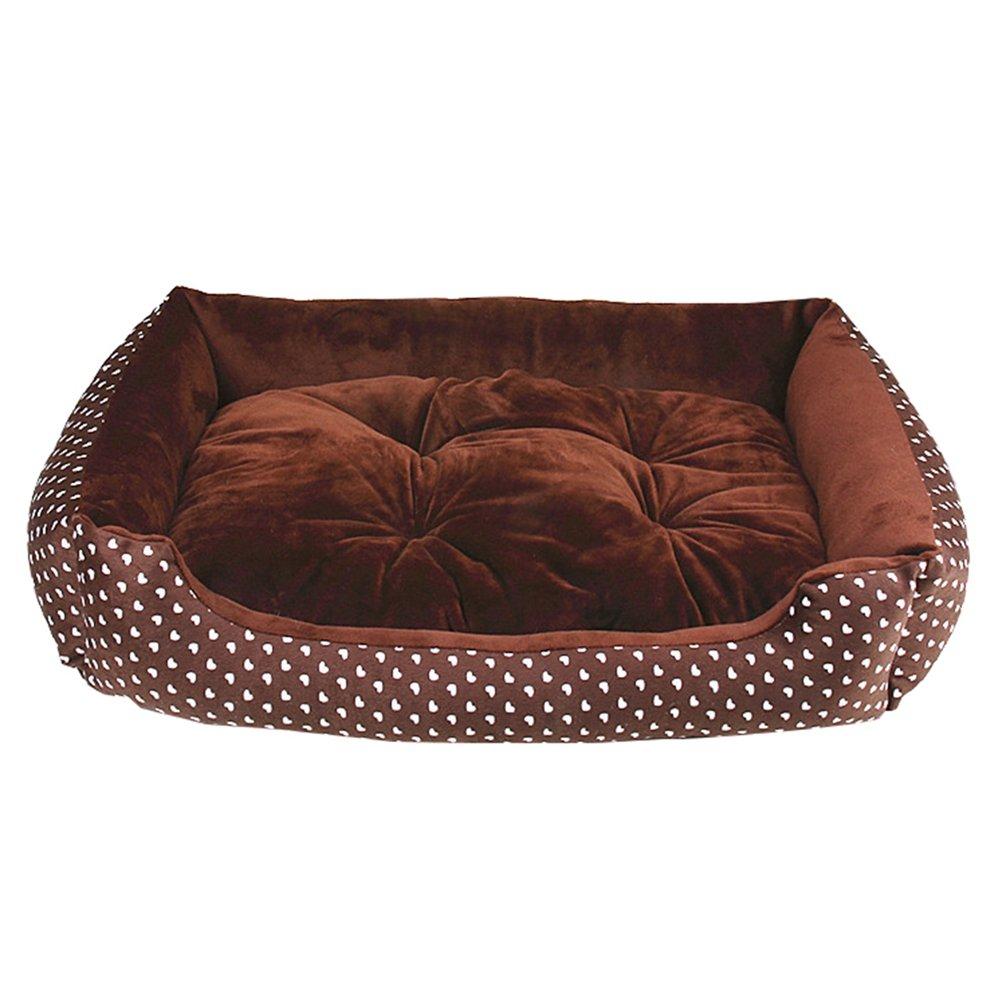 Beige #Cuore, M: 70 * 55cm LvRao Letto per Cane//Gatto Cuccia Cuscino Rimovibile Reversibile per Cani Cestino per Cucciolo Divano x Animale Domestico