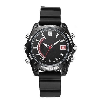 EFISH Incorporado 16G Tarjeta de Memoria Oculta espía cámara Watch Mini videocámaras Full HD 1920 * 1080P IR Noche visión Reloj DVR grabación Relojes: ...