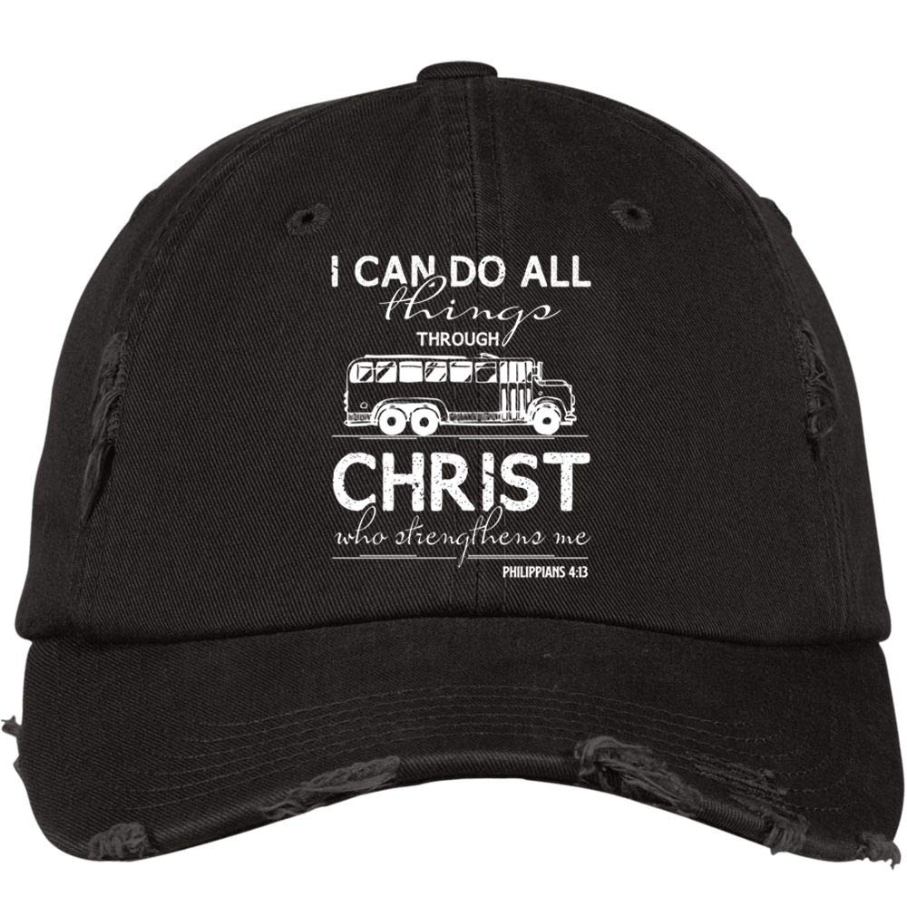 Im A Bus Driver District Distressed Dad Cap School Bus Driver Hat
