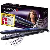 Remington Pro Ion S7710 - Plancha de Pelo, Cerámica, Digital, Placas Flotantes largas, Tecnología Iónica Triple, Azul y…