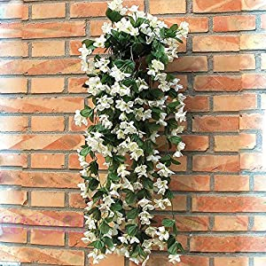 Kangnice Artificial Fake Violet Hanging Garland Hanging Vine Flowers Wedding Home Decor 29