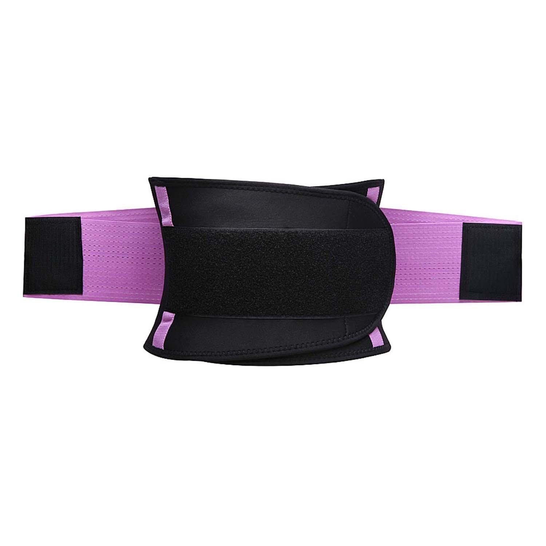 KOOCHY Women's Waist Trainer Belt - Waist Cincher Trimmer - Slimming Body Shaper Belt - Sport Girdle Belt for Weight Loss(Purple,Large) by KOOCHY (Image #8)