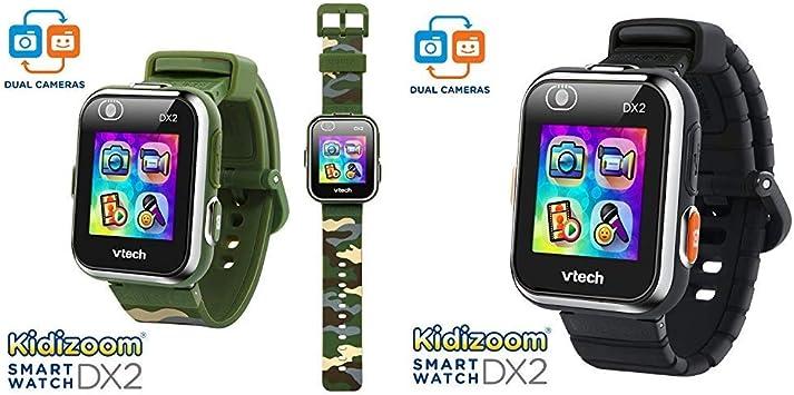 VTech KidiZoom Smartwatch DX2 Camouflage (Amazon Exclusive) & KidiZoom Smartwatch DX2 Black (Amazon Exclusive)