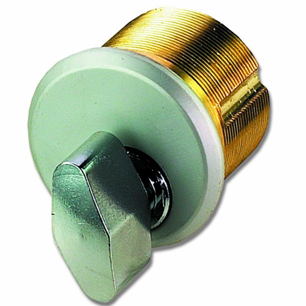 Global Door Controls Brass Thumbturn in Aluminum
