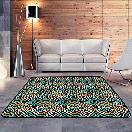 (Throw Rugs,Geometric,Surreal Future LinesW 78.7