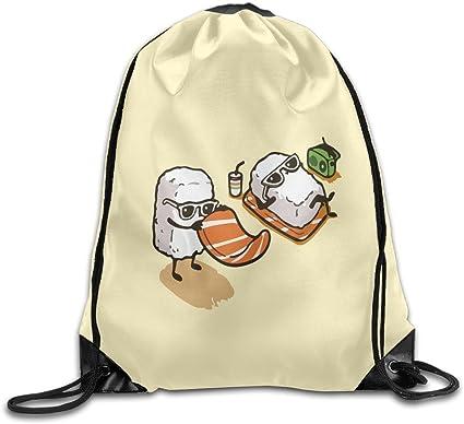 Cartoon Cute Japanese Sushi Holiday Gym Drawstring Bag