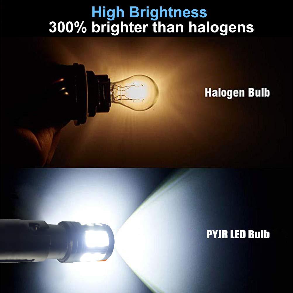 confezione da 2 unit/à Lampadina led bay15d 1157 fanali posteriori per luci di posizione luce dei freni luce bianca con Proiettore PYJR DC10-30V Ampia tensione