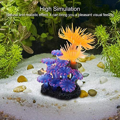 TOPINCN Artificial Coral Acuario Pecera Simulación Silicona Plantas Flor Plástico Suave Mar Anémona Paisaje Decoración: Amazon.es: Hogar