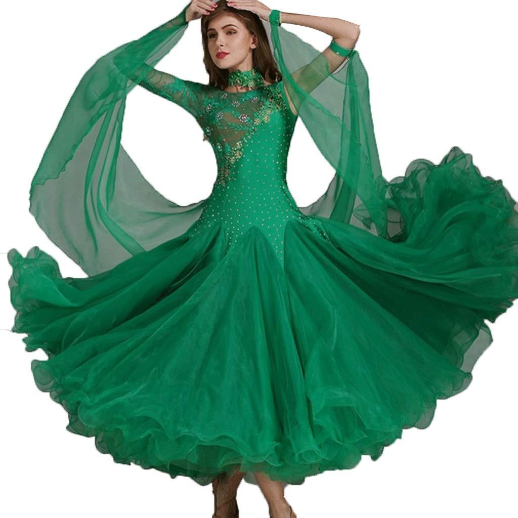 【日本製】 女性用のダンスドレスワルツパフォーマンス民族衣装レースの袖の競争社交ドレスシリーズダンスドレス B07QL899KR グリーン L l|グリーン l|グリーン グリーン L L l, ライコウ:f564da3f --- a0267596.xsph.ru