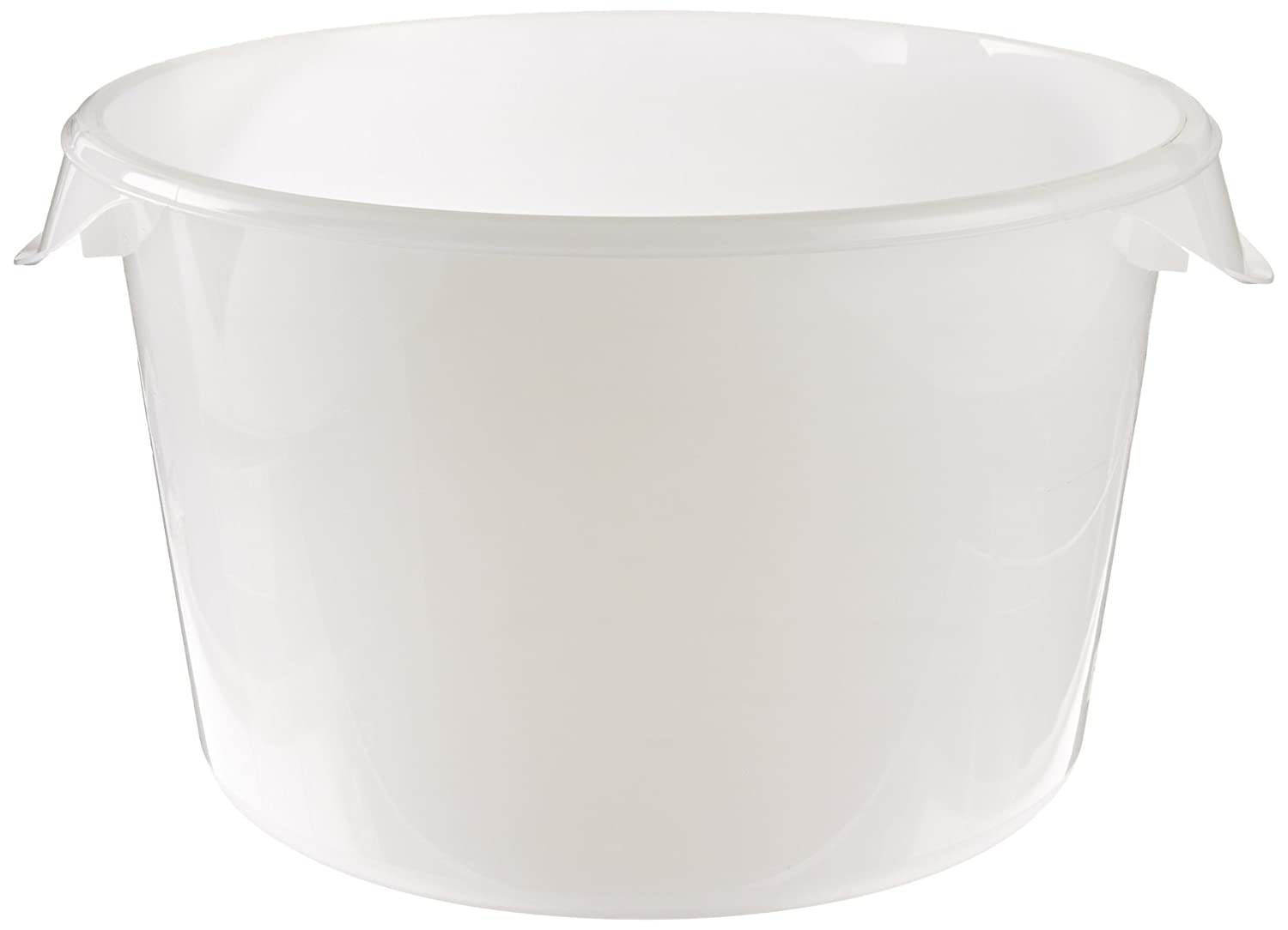 Rubbermaid Commercial Products Plastic Round Food Storage Container for Kitchen/Food Prep/Storing, 12 Quart, White (FG572600WHT)