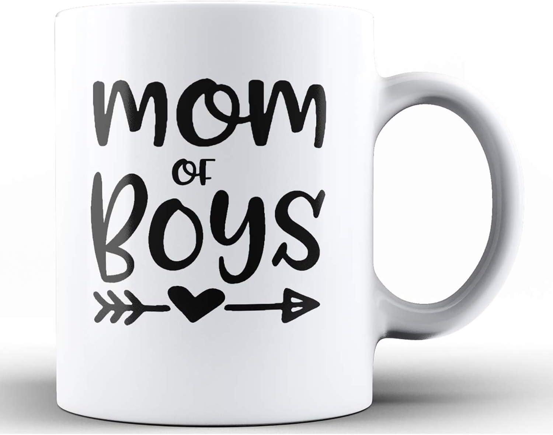 Amazon Com Shop4ever Mom Of Boys Ceramic Coffee Mug Kitchen Dining