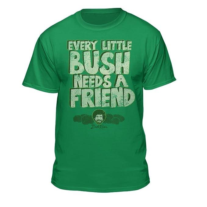 b34b084d Bob Ross Every Little Bush Needs A Friend Men's Licensed T-Shirt (Small)