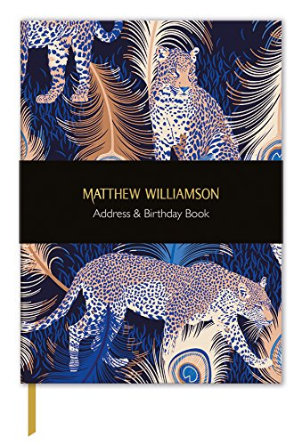 Matthew Williamson Leopards Address & Birthday Book Museums and Galleries