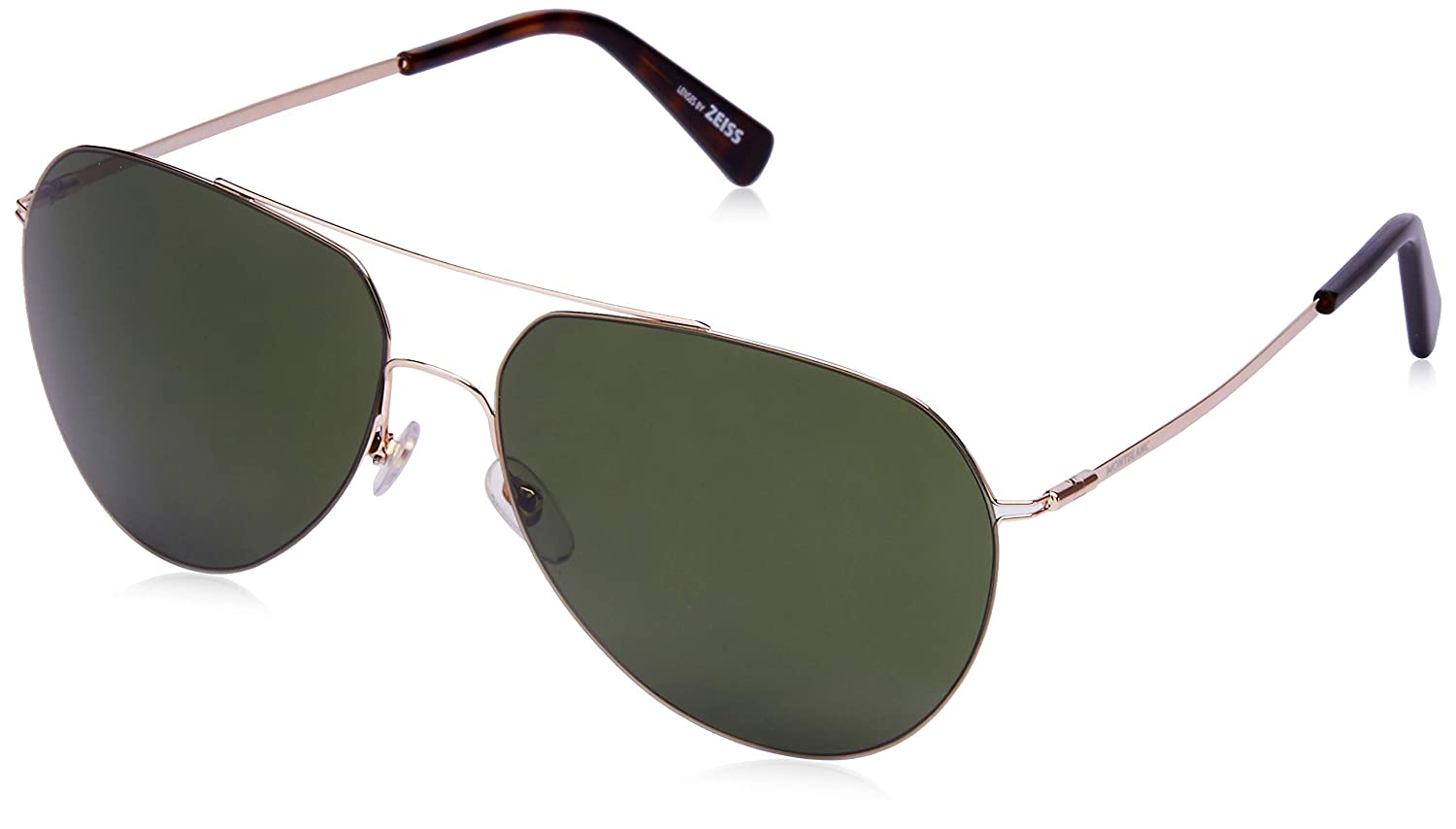 8966db14dc9f Sunglasses Montblanc MB 595 S 28N shiny rose gold green at Amazon Men s  Clothing store