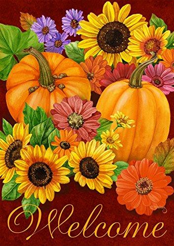 Briarwood Lane Fall Glory Floral Garden Flag Pumpkins Sunflowers Autumn 12.5