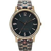 Chumbak Ethnic Touch Printed Strap Black Wrist Watch