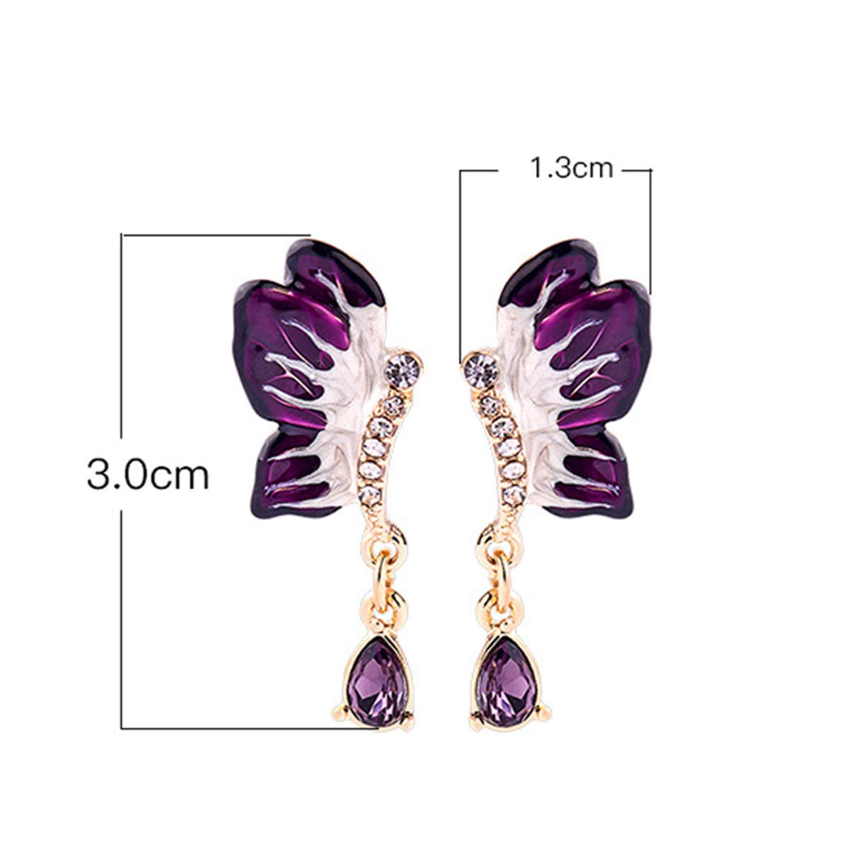 Friends,Women Girls Great for Sister 925 Sterling Silver Silver Needle Simulated Diamond Butterfly Shape Earring